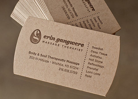 business cards natural cards
